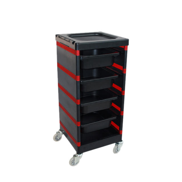 Useful Trolley For Salon And Barber Shop With Functional Space Design
