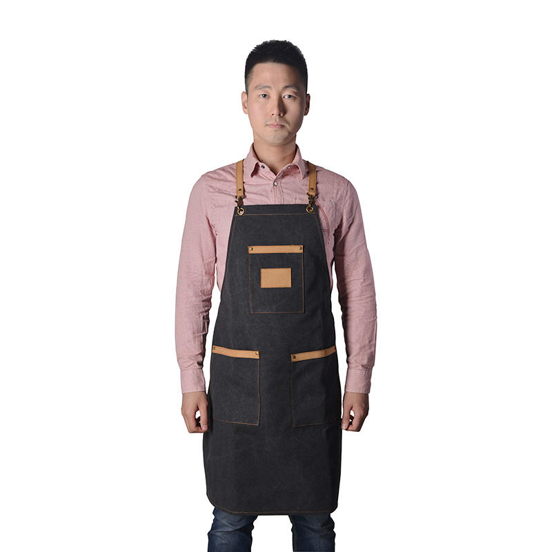 Vintage Barber Vic Canvas Apron With Durable Material