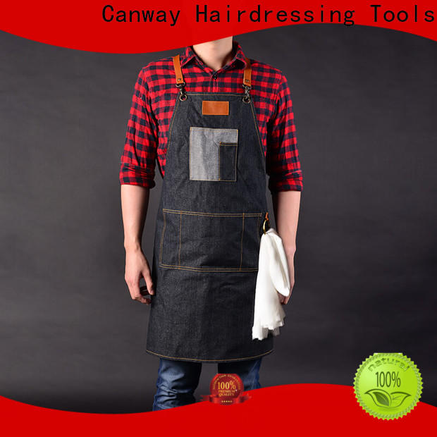 Canway material salon aprons manufacturers for hair salon