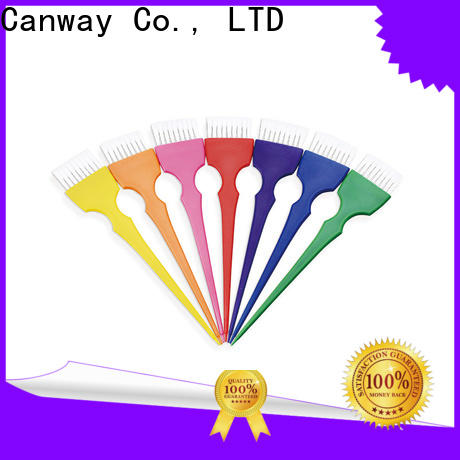 Canway colorful hair tint brush suppliers for hairdresser