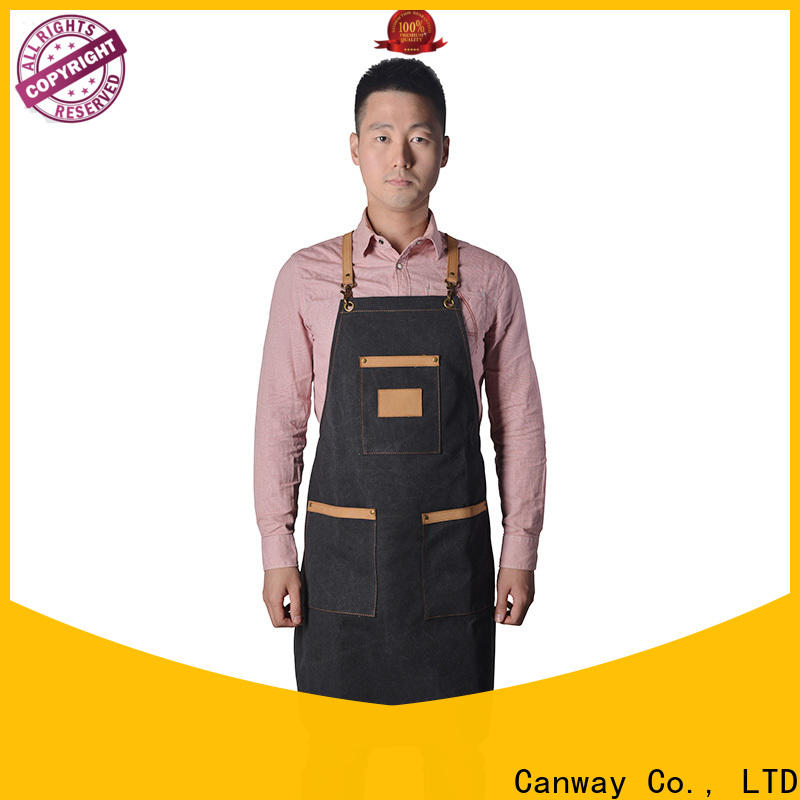 Canway canvas hairdresser apron manufacturers for beauty salon
