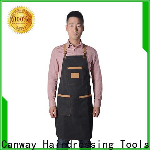 Canway fiber hairdresser apron suppliers for beauty salon