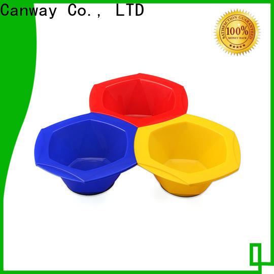 Canway softouch tinting bowl and brush supply for barber