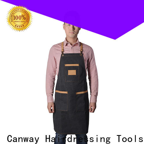 Canway material hair apron suppliers for hair salon
