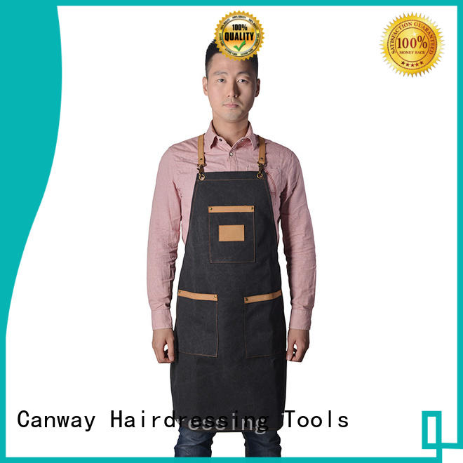 Canway material hair apron factory for hair salon